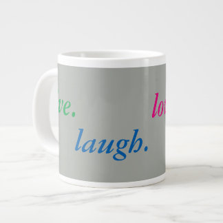 live. laugh. love. repeat. jumbo mug