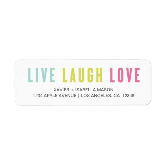 Live Laugh Love Return Address Label