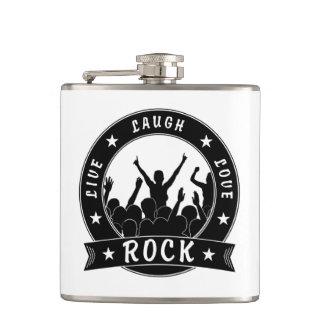 Live Laugh Love ROCK (blk) Hip Flask