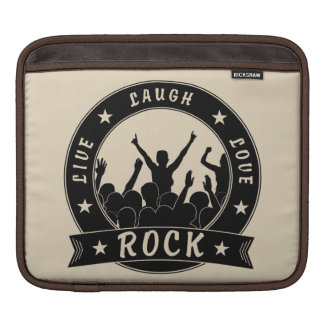 Live Laugh Love ROCK (blk) iPad Sleeve