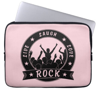Live Laugh Love ROCK (blk) Laptop Sleeve