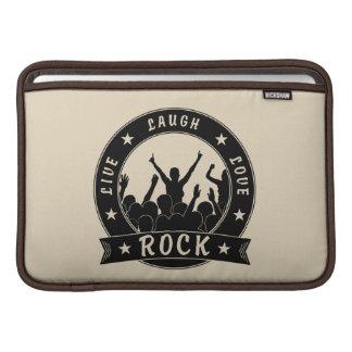 Live Laugh Love ROCK (blk) MacBook Sleeve