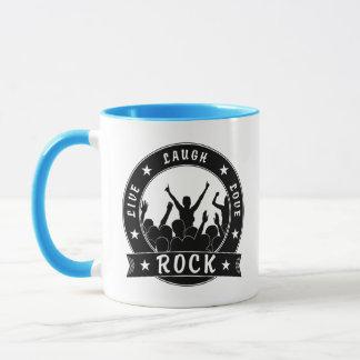 Live Laugh Love ROCK (blk) Mug
