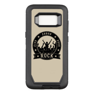Live Laugh Love ROCK (blk) OtterBox Defender Samsung Galaxy S8 Case
