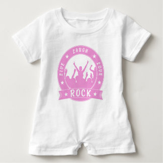 Live Laugh Love ROCK (pink) Baby Romper