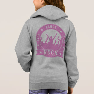 Live Laugh Love ROCK (pink) Hoodie