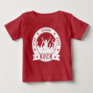 Live Laugh Love ROCK (wht) Baby T-Shirt