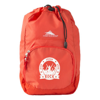 Live Laugh Love ROCK (wht) Backpack