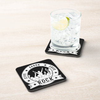 Live Laugh Love ROCK (wht) Coaster