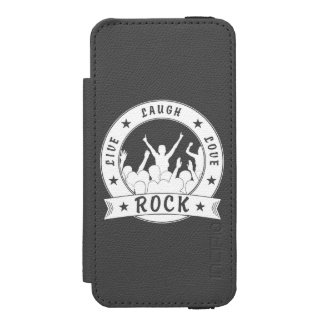 Live Laugh Love ROCK (wht) Incipio Watson™ iPhone 5 Wallet Case