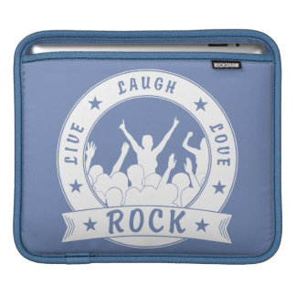 Live Laugh Love ROCK (wht) iPad Sleeves