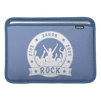 Live Laugh Love ROCK (wht) MacBook Sleeve