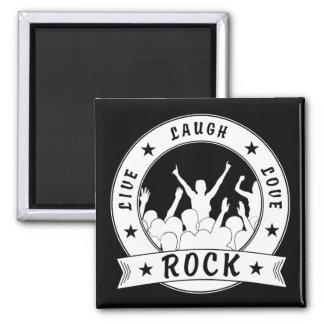 Live Laugh Love ROCK (wht) Magnet
