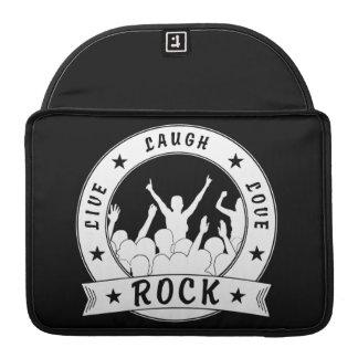 Live Laugh Love ROCK (wht) Sleeve For MacBook Pro