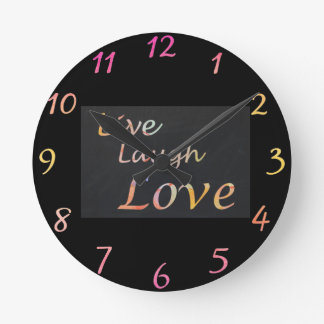 Live Laugh Love Round Clock