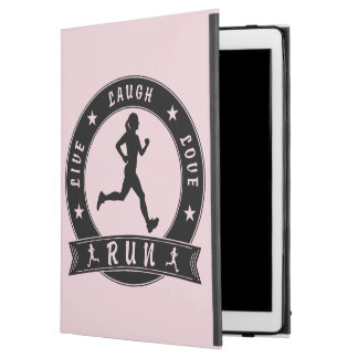 "Live Laugh Love RUN female circle (blk) iPad Pro 12.9"" Case"