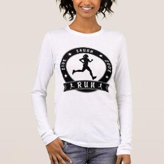 Live Laugh Love RUN female circle (blk) Long Sleeve T-Shirt