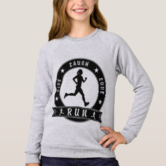 Live Laugh Love RUN female circle (blk) Sweatshirt