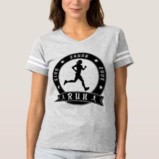 Live Laugh Love RUN female circle (blk) T-shirt