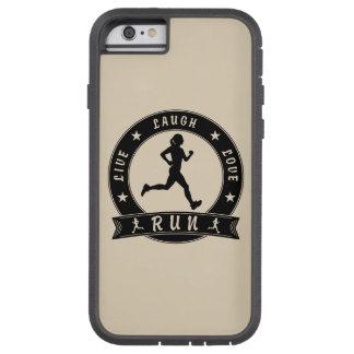 Live Laugh Love RUN female circle (blk) Tough Xtreme iPhone 6 Case