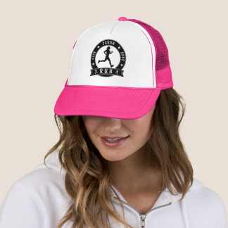 Live Laugh Love RUN female circle (blk) Trucker Hat