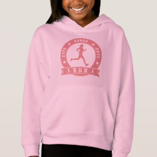 Live Laugh Love RUN female circle (pink)