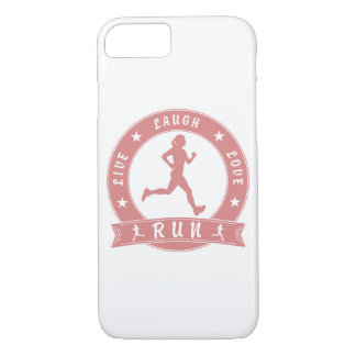 Live Laugh Love RUN female circle (pink) Case-Mate iPhone Case