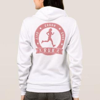 Live Laugh Love RUN female circle (pink) Hoodie
