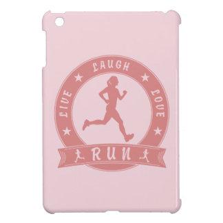 Live Laugh Love RUN female circle (pink) iPad Mini Case