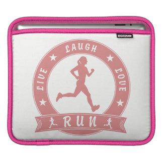 Live Laugh Love RUN female circle (pink) iPad Sleeve