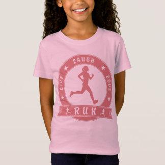 Live Laugh Love RUN female circle (pink) T-Shirt