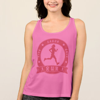 Live Laugh Love RUN female circle (pink) Tank Top