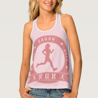 Live Laugh Love RUN female circle (pink) Tank Top