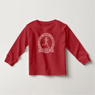 Live Laugh Love RUN female circle (pink) Toddler T-shirt
