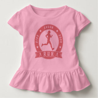 Live Laugh Love RUN female circle (pink) Toddler T-shirt