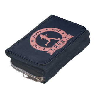 Live Laugh Love RUN female circle (pink) Wallet