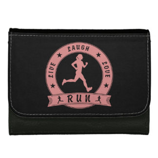 Live Laugh Love RUN female circle (pink) Wallet For Women