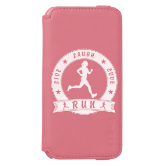Live Laugh Love RUN female circle (wht) Incipio Watson™ iPhone 6 Wallet Case
