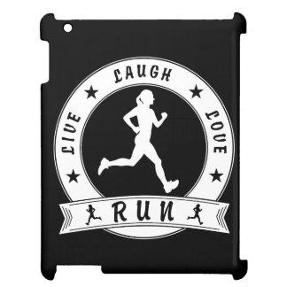Live Laugh Love RUN female circle (wht) iPad Cover