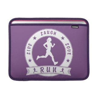 Live Laugh Love RUN female circle (wht) Sleeve For MacBook Air