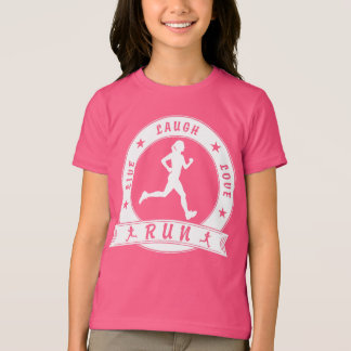 Live Laugh Love RUN female circle (wht) T-Shirt