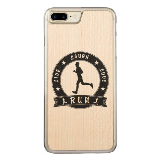Live Laugh Love RUN male circle (blk) Carved iPhone 8 Plus/7 Plus Case