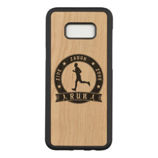 Live Laugh Love RUN male circle (blk) Carved Samsung Galaxy S8+ Case