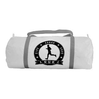 Live Laugh Love RUN male circle (blk) Gym Bag