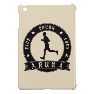 Live Laugh Love RUN male circle (blk) iPad Mini Case