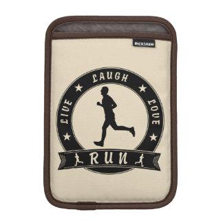 Live Laugh Love RUN male circle (blk) iPad Mini Sleeve
