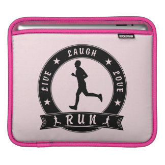 Live Laugh Love RUN male circle (blk) iPad Sleeve