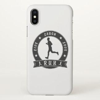 Live Laugh Love RUN male circle (blk) iPhone X Case