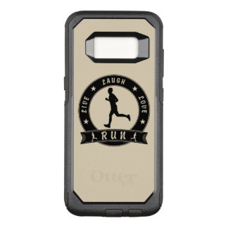 Live Laugh Love RUN male circle (blk) OtterBox Commuter Samsung Galaxy S8 Case