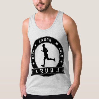 Live Laugh Love RUN male circle (blk) Tank Top